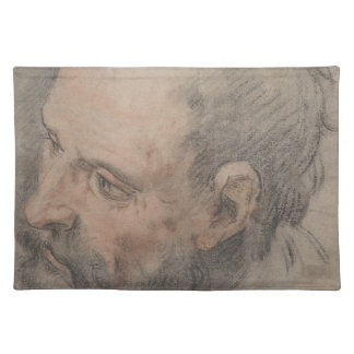 Head of a Bearded Man Looking Left Placemat