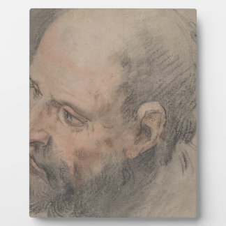 Head of a Bearded Man Looking Left Plaque