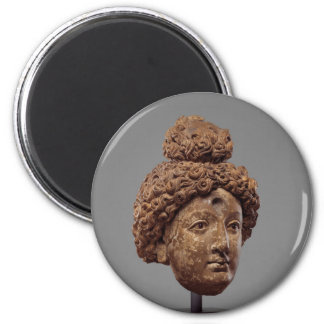 Head of a Buddha or Bodhisattva 6 Cm Round Magnet