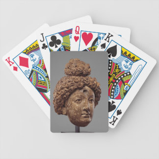 Head of a Buddha or Bodhisattva Bicycle Playing Cards