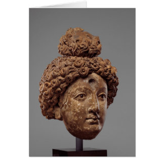 Head of a Buddha or Bodhisattva Card