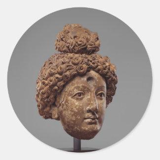 Head of a Buddha or Bodhisattva Classic Round Sticker