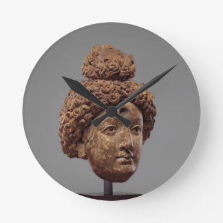 Head of a Buddha or Bodhisattva Round Clock
