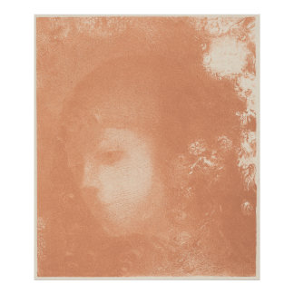 Head of a Child with Flowers by Odilon Redon Print