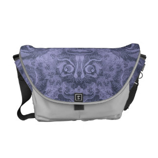 Head of a fantastic creature on Floral Pattern? -1 Courier Bags
