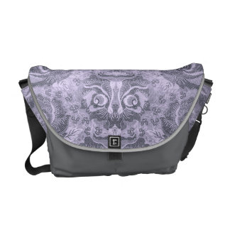 Head of a fantastic creature on Floral Pattern? 1 Messenger Bag