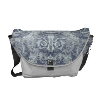 Head of a fantastic creature on Floral Pattern? 2 Commuter Bag