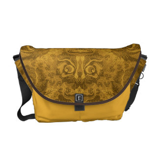 Head of a fantastic creature on Floral Pattern? -2 Messenger Bag