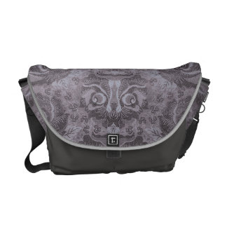 Head of a fantastic creature on Floral Pattern? - Commuter Bags