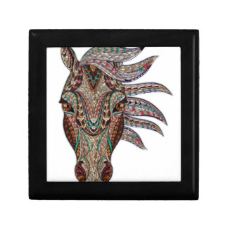 Head of a horse painted on glass like art gift box