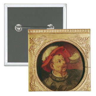 Head of a Lansquenet 15 Cm Square Badge