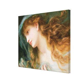Head of a Nymph Canvas Print