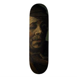 Head of a Peasant by Vincent Van Gogh Custom Skateboard