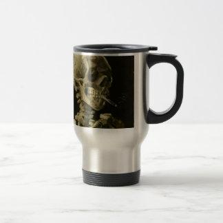 Head of a skeleton coffee mugs