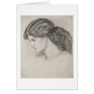 Head of a Woman, 1861 (pencil on paper) Card