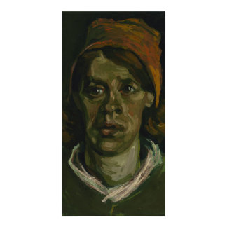 Head of a Woman by Vincent Van Gogh Photo Cards