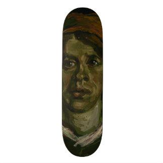 Head of a Woman by Vincent Van Gogh Custom Skate Board