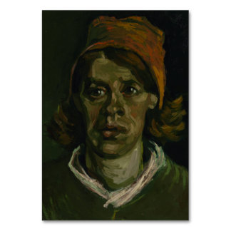 Head of a Woman by Vincent Van Gogh Table Cards