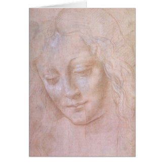 Head of a woman card