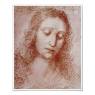 Head of a Woman, Leonardo da Vinci, 1510 Poster