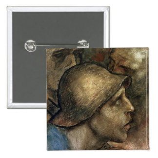 Head of a Worker 15 Cm Square Badge