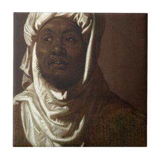 Head of an African Man Tile