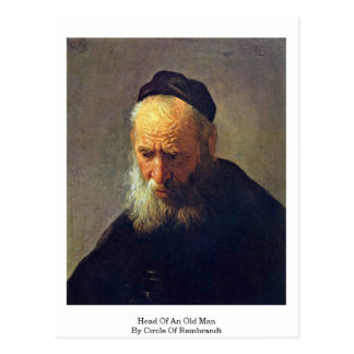 Head Of An Old Man By Circle Of Rembrandt Postcard