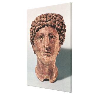 Head of Apollo, from Lillebonne Canvas Print