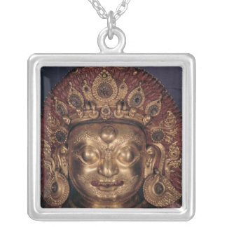 Head of Bhairava, late 17th century Silver Plated Necklace