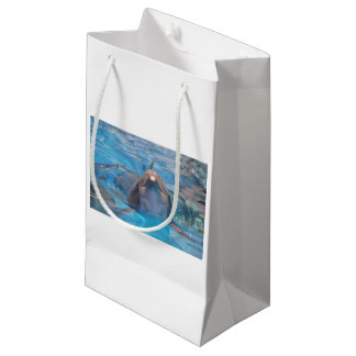 Head of  bottlenose dolphin small gift bag