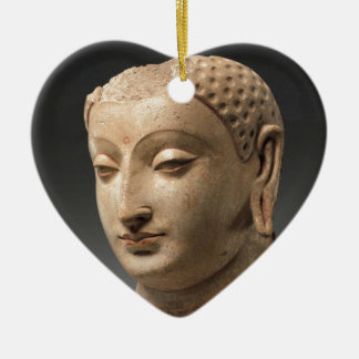 Head of Buddha - 5th–6th century Ceramic Heart Decoration