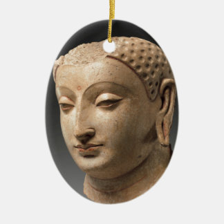 Head of Buddha - 5th–6th century Ceramic Oval Decoration