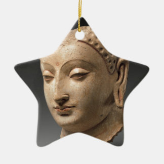 Head of Buddha - 5th–6th century Ceramic Star Decoration