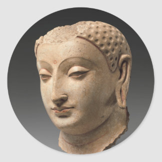Head of Buddha - 5th–6th century Classic Round Sticker