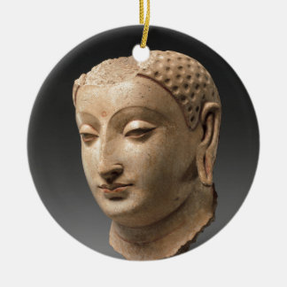 Head of Buddha - 5th–6th century Round Ceramic Decoration