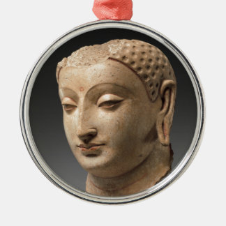 Head of Buddha - 5th–6th century Silver-Colored Round Decoration