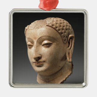 Head of Buddha - 5th–6th century Silver-Colored Square Decoration