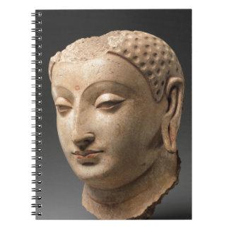 Head of Buddha - 5th–6th century Spiral Notebook
