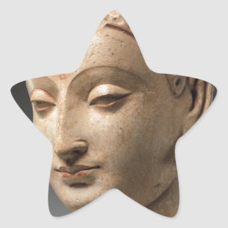 Head of Buddha - 5th–6th century Star Sticker