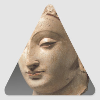 Head of Buddha - 5th–6th century Triangle Sticker