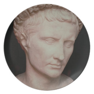 Head of Caesar Augustus Dinner Plates