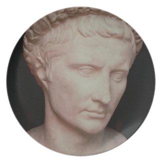 Head of Caesar Augustus Dinner Plates
