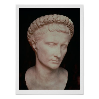 Head of Caesar Augustus Poster