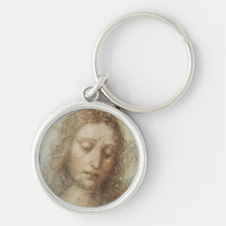 Head of Christ by daVinci Silver-Colored Round Key Ring