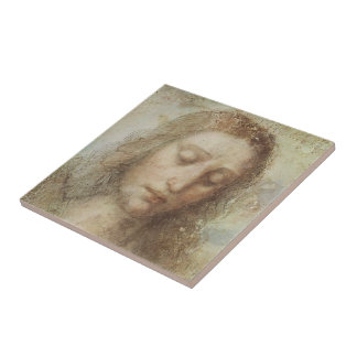Head of Christ Small Square Tile