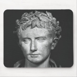 Head of Emperor Augustus Mouse Pad