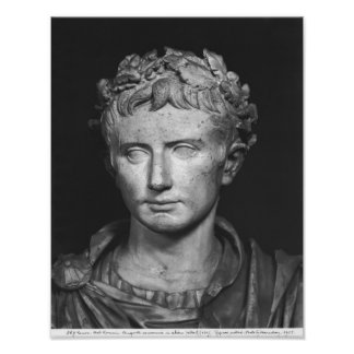Head of Emperor Augustus Poster