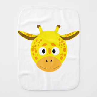 Head of Giraffe Burp Cloth