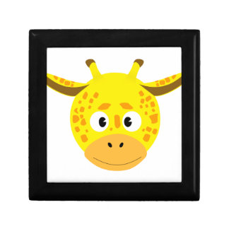 Head of Giraffe Small Square Gift Box