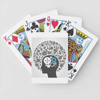 Head of hands bicycle playing cards